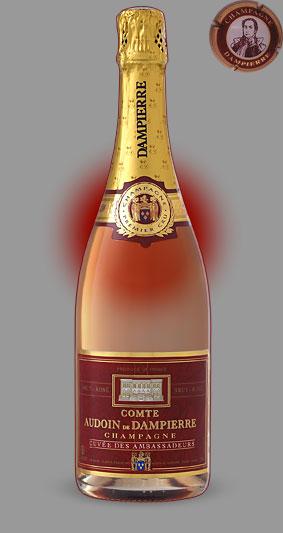 Розовое шампанское Кюве Амбассадор Розе - Дампьер l Cuvee Ambassadeurs Rose - Champagne Dampierre