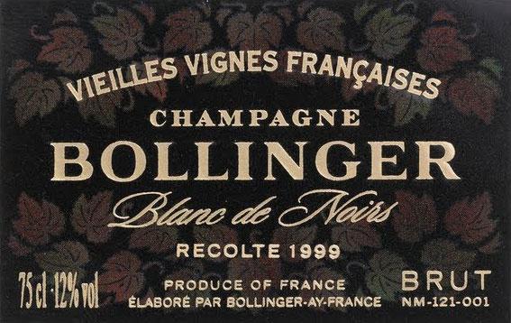 Vieilles Vignes Francaises - Bollinger Champagne 2002 2000 1999 / Вьей Винь Франсез - шампанское Боланже