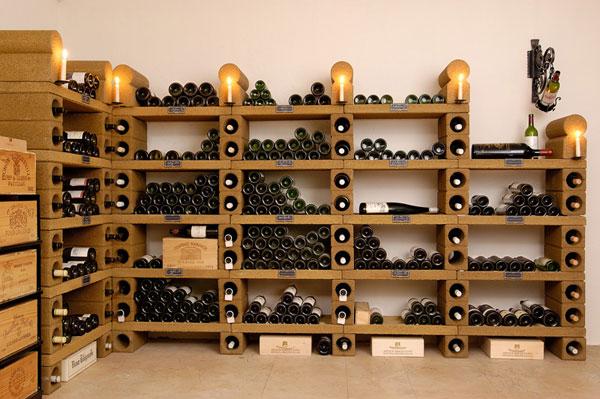 Для хранения винных бутылок